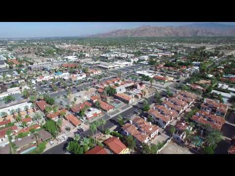 Aerial of Palm Springs California 4K (Drone / DJI Phantom 3 Pro)