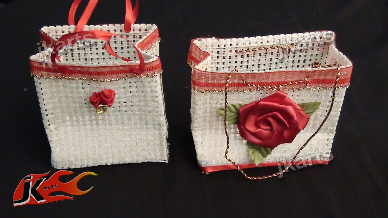 Diy jute bag making jk arts 195 youtube for Diy jute