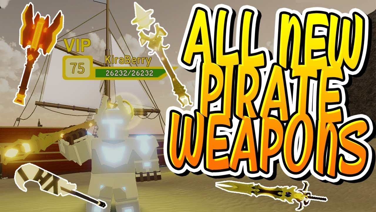 ALL NEW PIRATE ISLAND WEAPONS IN DUNGEON QUEST!!! (Roblox)
