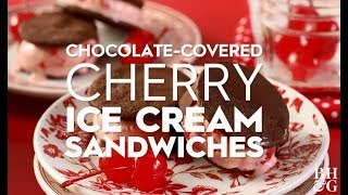 Chocolate Covered Cherry Ice Cream Sandwiches | Holiday Crafts | Better Homes and Gardens
