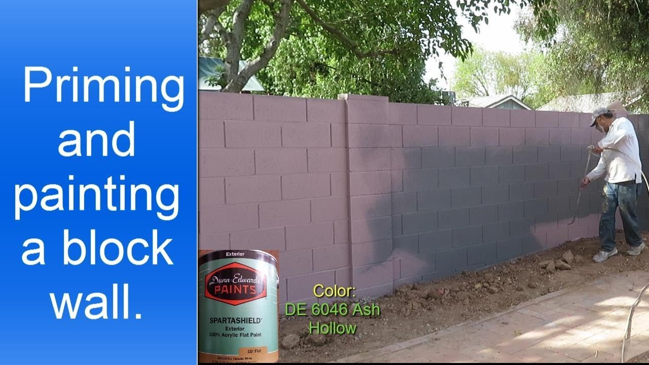 Painting Exterior Cinder Block Wall Fence Youtube