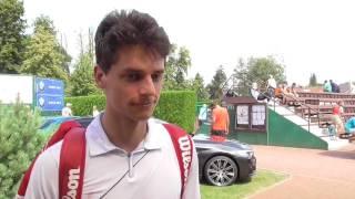 Radomír Vyhlas po prohře v 1. kole kvalifikace na turnaji Futures v Pardubicích