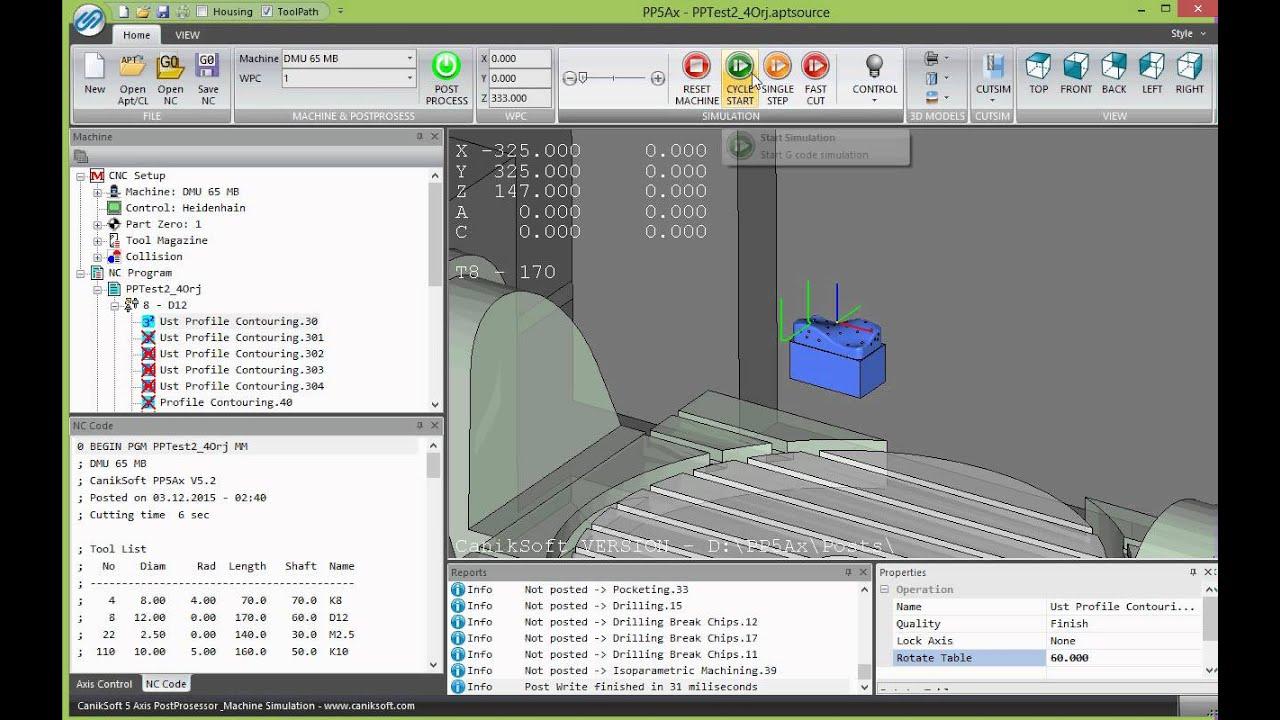 Caniksoft|CNC Post Processor|CNC Simulation|Probing|Turkey