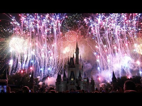 NEW 2017 4th of July Fireworks - Finale & Highlights - Magic Kingdom - Celebrate America (7/3/17)
