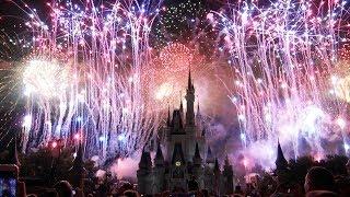 NEW 2017 4th of July Fireworks  Finale amp; Highlights  Magic Kingdom  Celebrate America (7317)