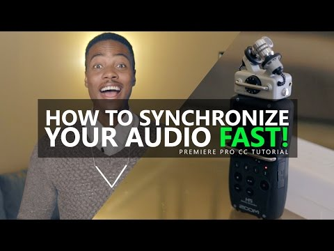 How To Synchronize Audio Fast (Premiere Pro CC Tutorial)