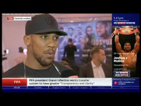 Joshua vs Molina: London Media Day
