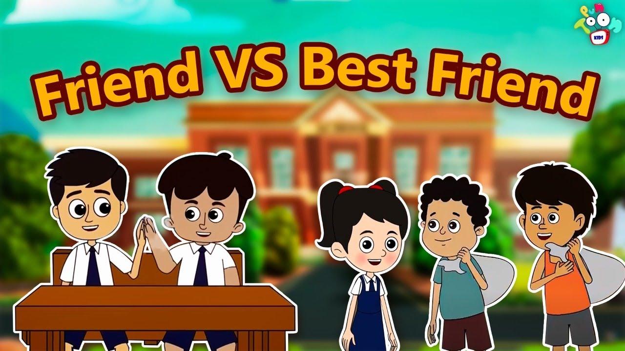Friend VS Best Friend   Types of Friends in School   Animated Stories   PunToon TV   English Cartoon
