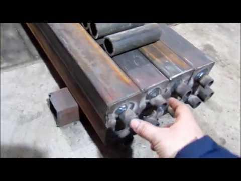 Батареи отопления из квадратной трубы