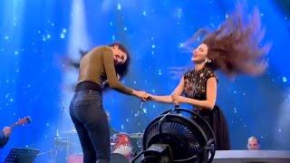 فتاة تنافس ميريام فارس بالرقص العراقي