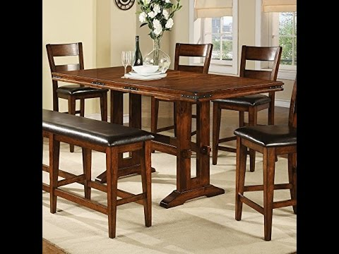 Bon Winners Only Counter Height Dining Table With 18 In Butterfly Leaf