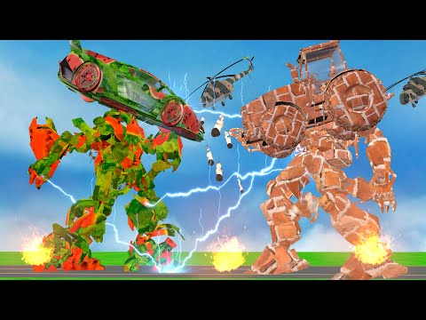 जादुई तरबूज कार रोबोट Magical Watermelon Car Robot Bricks Robot Hindi Kahaniya Comedy हिंदी कहानी