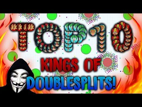 NEW BRUTAL AGAR IO ★ TOP 10 KING OF KINGS ★ DOUBLESPLIT 2017 LOS MEJORES DOBLES DE TODO AGARIO ★ - 동영상