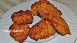 Jamaican Saltfish Fritters Recipe Video