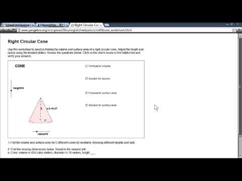 Volume & Surface Area Dynamic Worksheets