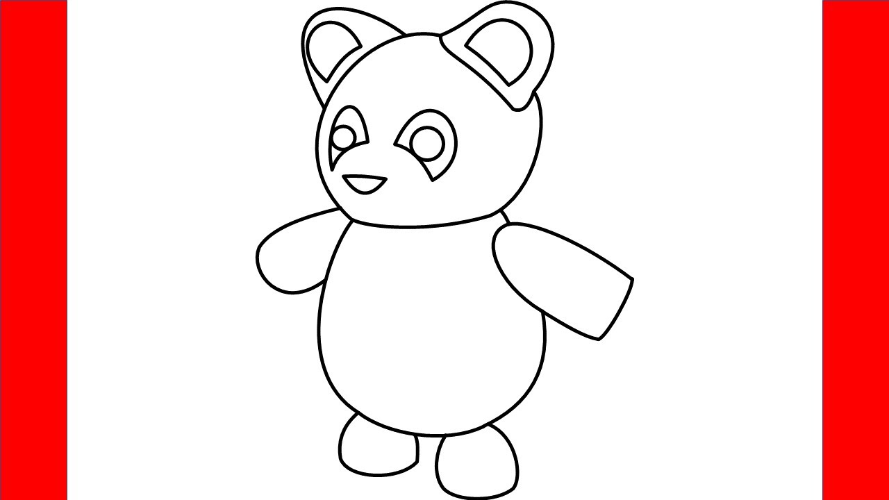 How To Draw Panda From Roblox Adopt Me - Step By Step ...