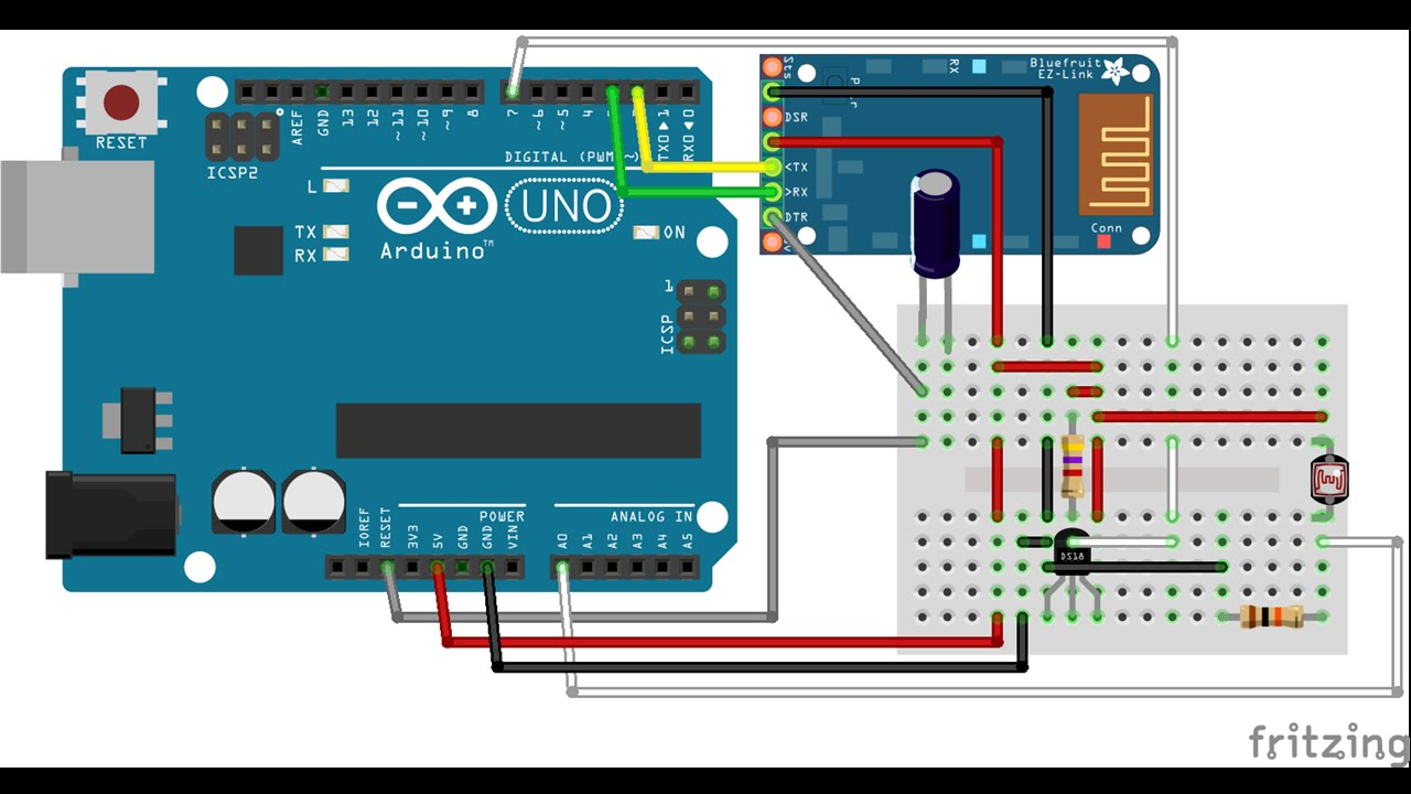 Arduino data to android via bluetooth education youtube