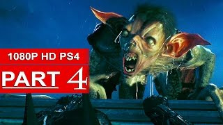 Batman Arkham Knight Gameplay Walkthrough Part 4 [1080p HD PS4] Scary Creature! - No Commentary