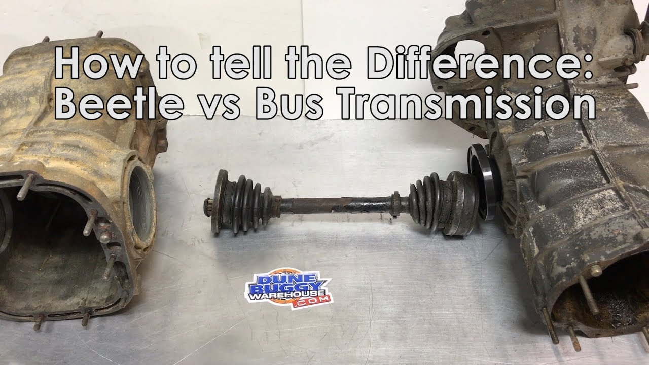 Bug vs Bus Transmissions - How to tell the difference - Air cooled VW Tech  Tips