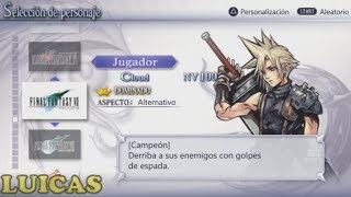 Final Fantasy Dissidia Coliseo Cloud Gameplay HD PPSSPP