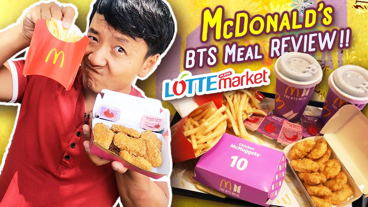 McDonald's BTS Meal REVIEW | LOTTE MARKET Food Court & ULTIMATE Seafood Tour in FLORIDA