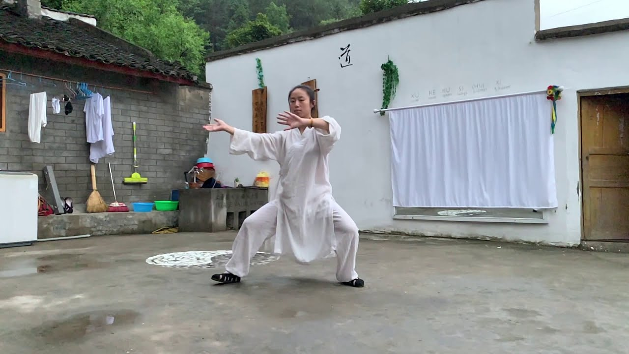 Wudang Zhang Sanfeng Taiji 28 @Wudang Taoist Wellness Academy by Master Gu disciple from Wuhan China