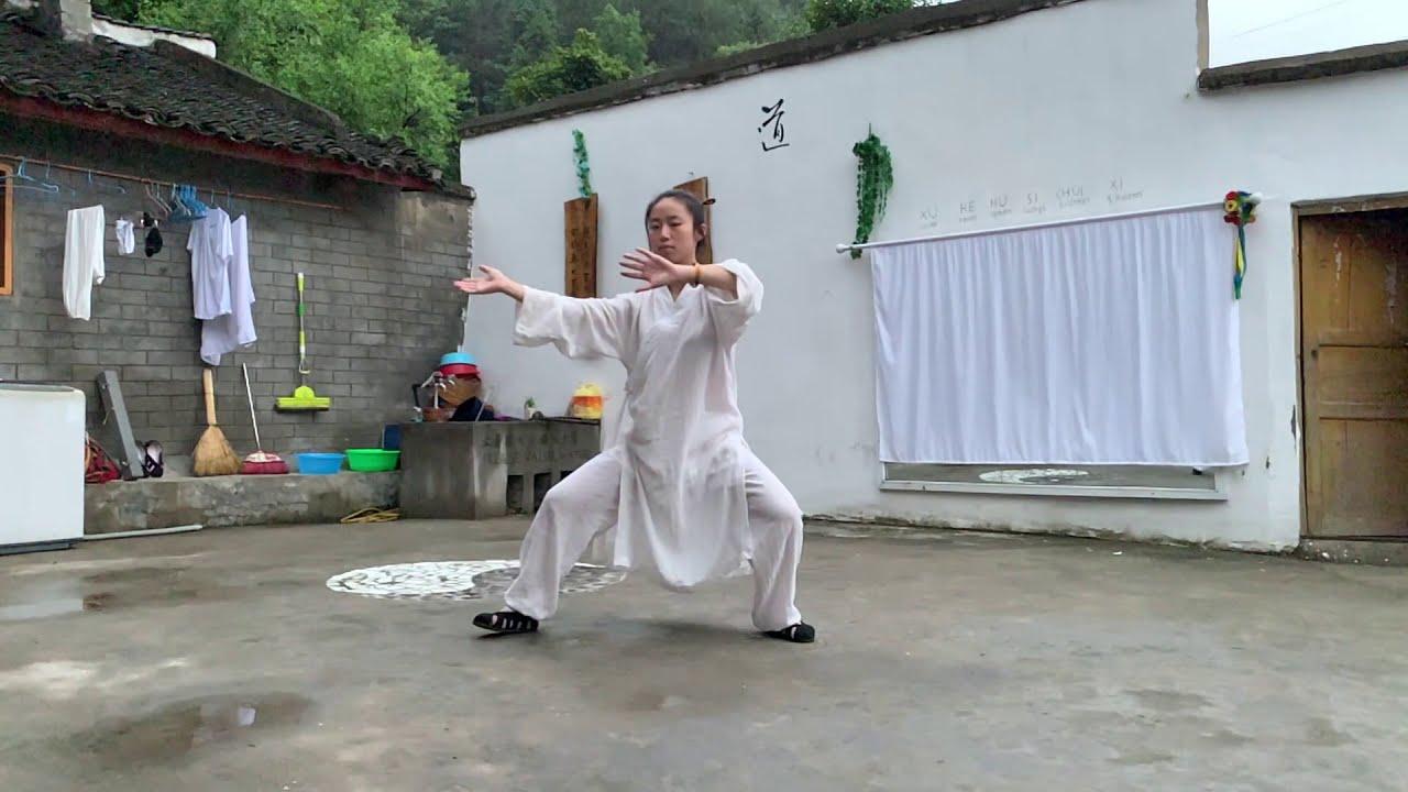 Wudang Zhang Sanfeng Taiji 28 @Wudang Taoist Wellness Academy by Master Gu disciple from Wuhan China