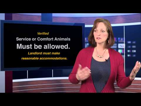 Fair Housing - Service and Comfort Animals