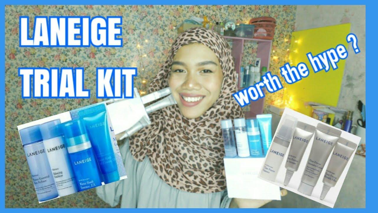 Review Laneige Moisture Trial Kit Time Freeze Original Korea Sample Basic Care 2 Items Skin Nuraminust