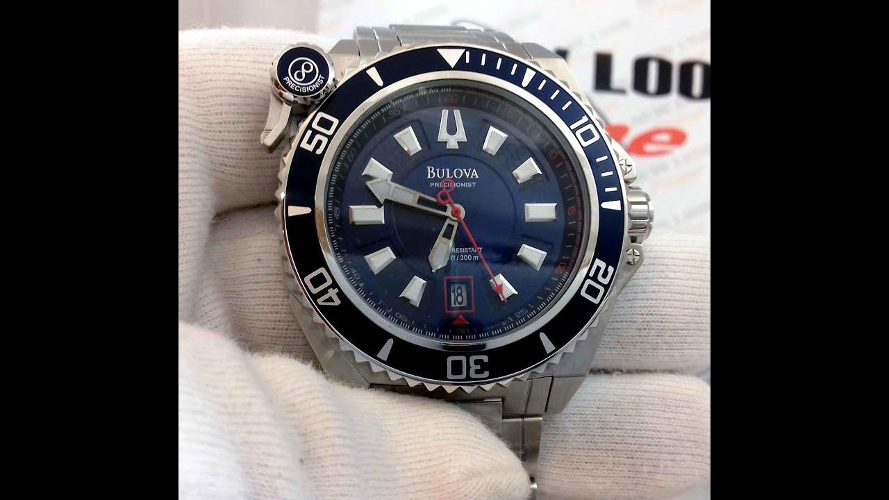 d30ec5cd306 RELÓGIO BULOVA SCUBA DIVER WB31569A  PRECISIONIST - New Look Time Relógios