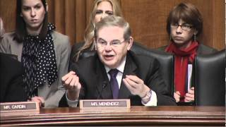 Senator Menendez at Senate Foreign Relations Committee Hearing 3/14/2012