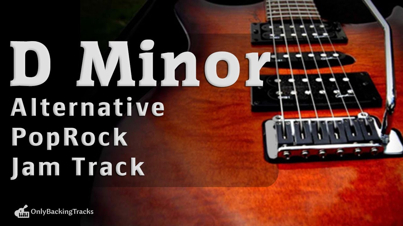D Minor Alternative Rock Clean Guitar Backing Track 114 Bpm