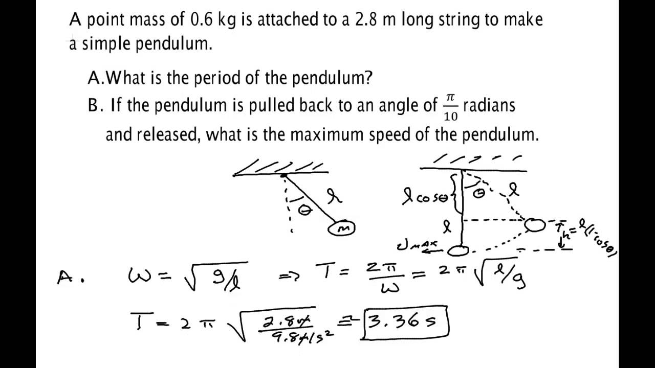 simple pendulum Investigate the motion of a simple pendulum and determine how the motion of a pendulum is related to its length.