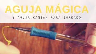 Cómo usar la aguja de bordado mágico o ruso, aguja kantan // Aprendemos a bordar fácil