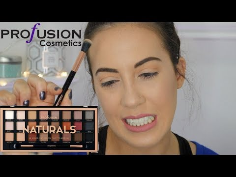 PROFUSION COSMETICS EYESHADOW PALETTE REVIEW/FIRST IMPRESSIONS   CARSON CLARK