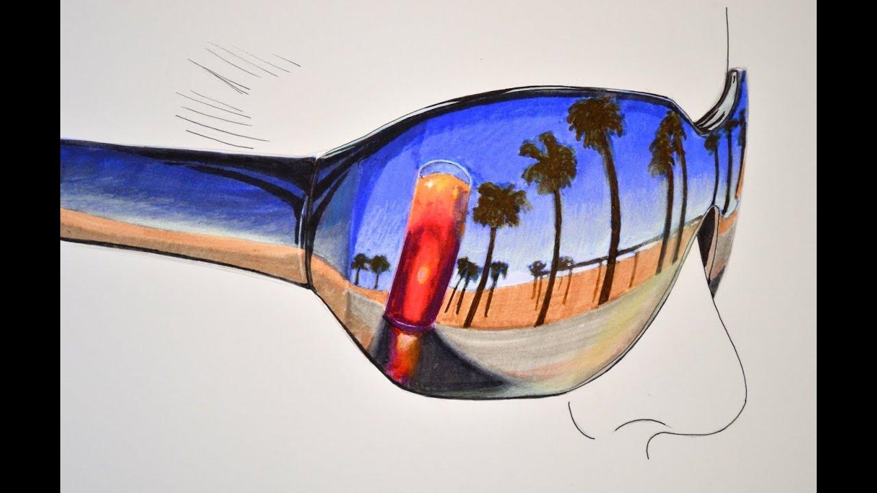 Cmo dibujar un reflejo de playa en lentes oscuros  Arte Divierte
