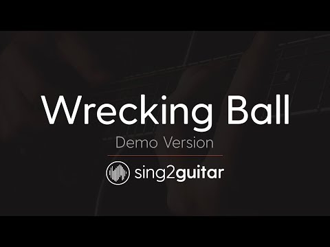 Wrecking Ball (Acoustic Guitar Karaoke) Miley Cyrus