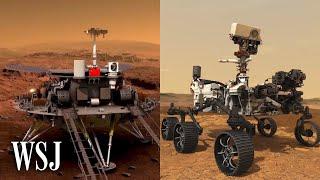 China's Zhurong vs. NASA's Perseverance: Rover Tech in Mars Space Race | WSJ