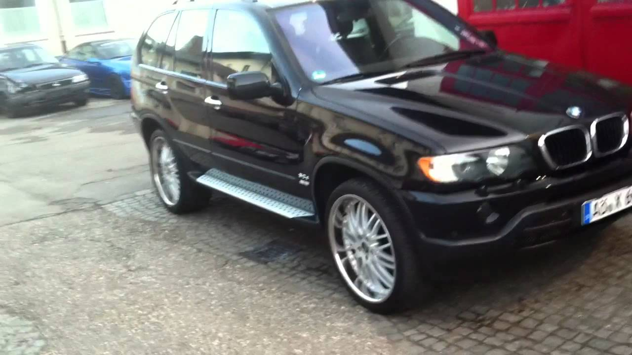bmw x5 e53 3l diesel mit 22 zoll youtube. Black Bedroom Furniture Sets. Home Design Ideas