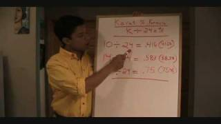 Part 8 - Learning the Numbers 1 of 3 Karat Percent Formula