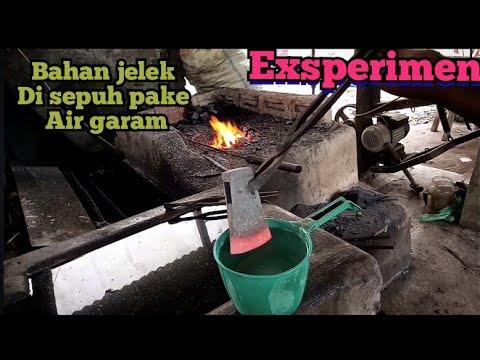 Menyepuh Kampak Jelek Menggunakan Air Garam Bagus Ga Yahh Youtube