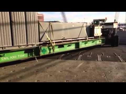 Shipping Container Trailer >> Roro mafi cargo - YouTube