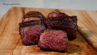 *양식* 채끝살 스테이크 미디움 레어로 굽는법, 스테이크 굽는법, Sirloin steak with mashed potato