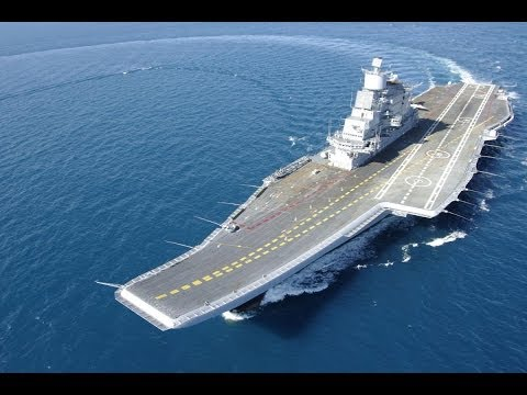 INS Vikramaditya - MIG Take Off and Landing - STOBAR and  Ka