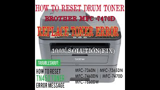 BROTHER MFC 7470D DRUM Reset/R…