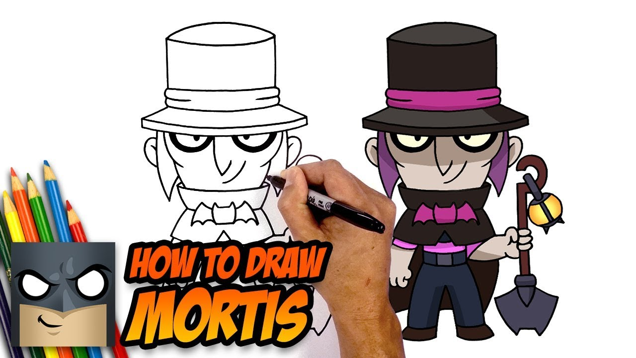 How To Draw Brawl Stars Mortis Step By Step Youtube