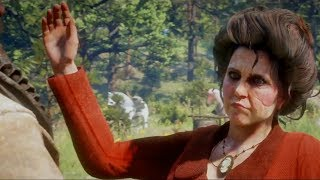 All Of Miss Grimshaw Secret Camp Cutscenes With Arthur Red Dead Redemption 2 (1st Camp)