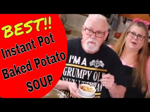 The BEST Instant Pot Baked Potato Soup