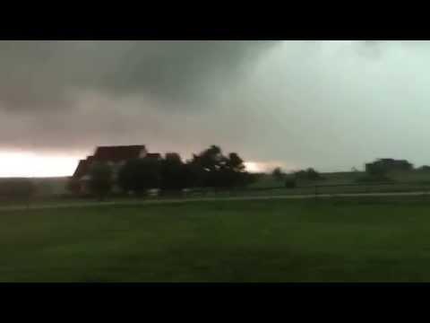 Tornado Forming - Argyle, Denton, Krum, Texas Storms Denton County Part 1