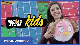 Catrific Plays Angry Birds in Real Life | RECORDSETTER KIDS